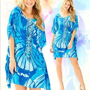 Lilly Pulitzer Lindamarie Caftan Get Inky S/M NWT